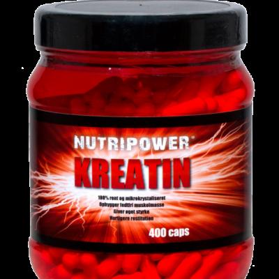 Nutripower Kreatin tabletter 400 stk
